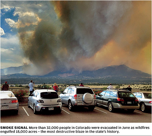 Wildfires engulfed 18,000 acres.